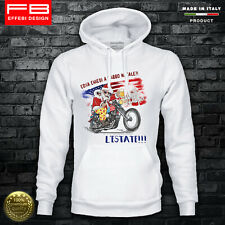 Felpa Hoodie Harley Davidson Babbo Natele Santa Claus Moto Idea Regalo Natale