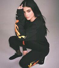 Authentic The Kylie Jenner Shop Champion Black Flame Sweatpants Pants M SOLD OUT