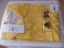New ADIDAS MCL Clima Lite Solid Golf Polo Shirt XL 3 Stripe Yellow
