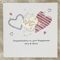 Handmade Personalised Engagement Card - Your Story