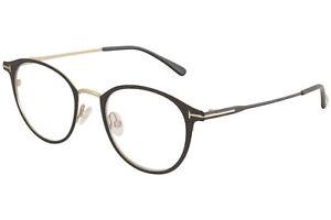 Tom Ford Eyeglasses TF5528B TF/5528/B 002 Matte Black/Gold Optical Frame 49mm