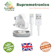 Genuine/Official Apple Lightning USB Cable Mains Charger Lead iPhone 5 5s 5c 6