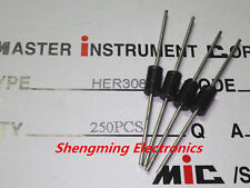100PCS HER308 3A 1000V Fast Recovery Diodes