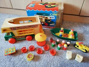Fisher Price Play Family Camper Complete Set Retro Vintage 80s