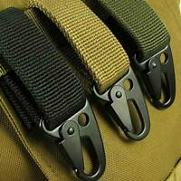 Military Nylon Carabiner Key Hook Webbing Buckle Outdoor Hanging Belt Clip +Ring