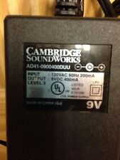 Genuine Cambridge Soundworks Ad41-0900400Duu Power Adapter 9V Ac to Dc 400mA