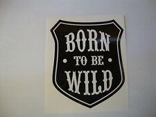 2 X nacido para ser salvaje ventana Stickers Pegatinas de casco de moto negro