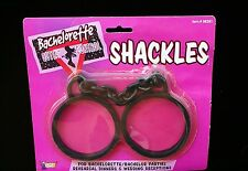 Bachelorette Wedding Shackles Rubberized Black Bridal Party Gag Gift One Size