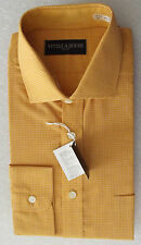 Vintage 1970s VIYELLA check shirt UNUSED for button/ cuff links Collar 15.5 mens