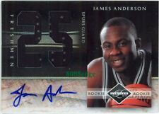 2010-11 PANINI LIMITED RC JERSEY AUTO: JAMES ANDERSON/99 AUTOGRAPH SPURS ROOKIE