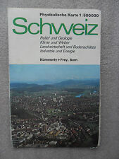 CARTE ROUTIERE-Straßenkarte-SCHWEIZ-KÜMMERLY+FREY-SUISSE-BERN-RELIEF/GEOLOGIE-//