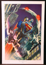 Superman Brainiac Bizarro Fine Art Print by Alex Ross  New!