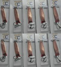 10 X 7g  TOBY TOBIX Type Salmon Pike Lure Spinner in Copper, Seafishing, 10003