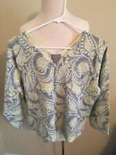 (44) Sigrid Olsen XL 3/4 sleeve Women's multi-colored blouse