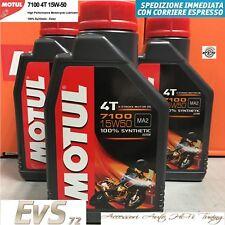 Motul 7100 15W50 Olio Motore 100% SINTETICO Consigliato Moto DUCATI 3 Litri