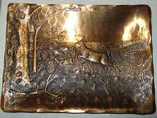 Hammered Bronze Hand Made Tray Natale Leesburg PA, Prancing Deer Woods & Trees