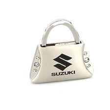 Suzuki Purse Shape Keychain W/6 Swarovski Crystals