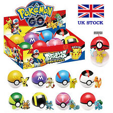 Pokemon Pokeballs 8PCS y 1 + 7 Figuras al Azar Pikachu figura en el interior con caja