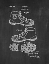 Tennis Shoe Patent Print Chalkboard