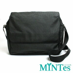 Auth Dunhill Canvas Shoulder Bag Gray Simple Large Capacity With Machi [Used]