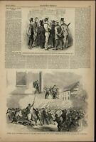 Soldiers Attacked by Mob St. Louis Riot Street 1861 great old print for display