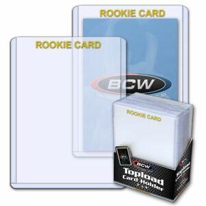 (25-Pack) BCW Gold Foil ROOKIE CARD Imprinted Toploaders Rigid Topload Holders