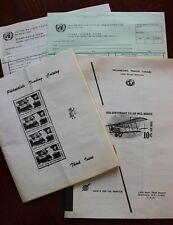 Philatelist Stamps Ephemera - Vintage United Nations Forms, Other Catalogues