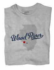 Wood River Illinois IL Ill T-Shirt MAP