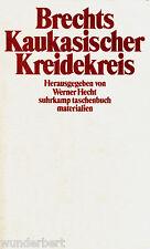 *- BRECHTS Kaukasischer KREIDEKREIS - MATERIALIEN - Werner HECHT  tb (1985)