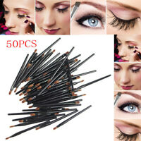 50Pcs Portable Makeup eyebrow Eyelash Cosmetic Beauty Tool Disposable Lip Brush-