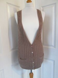 JOULES CLOTHING Ladies Brown Sleeveless Cardigan  UK10