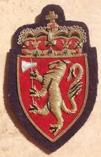 "Gold Bullion Vintage ""Norwegian Coat of Arms"" Patch"