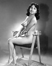 1950s NUDE 8X10 PHOTO BUSTY BIG NIPPLES TANYA MURRIETTA FROM ORIGINAL NEG-6