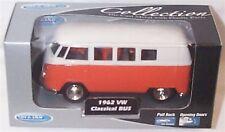 1962 VW Classic Bus Orange  1-38 Scale  Mib