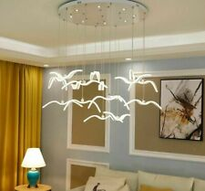 Novelty Led Seagull Pendant Lamp Kitchen Acrylic Led Chandeliers Hanging Lights