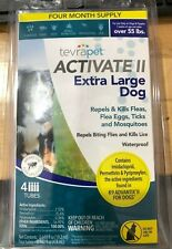 Tevrapet ACTIVATE II Flea And Tick Prevention Extra Large Dog 4 Month Supply