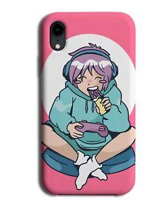 Anime Gamer Girl Eating Japanese Candy Phone Case Cover Gaming Chick EGirl M343
