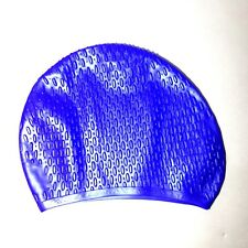 silicone swim cap swimming caps for long hair short adult blue