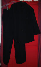 DI VITA black acetate/viscose made in Italy pantssuit set size 8