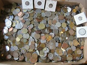 More than 30 Pounds of World Coins with some Older & Silver coins included