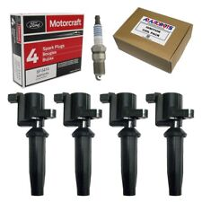 Set Of 4 Ignition Coils + 4 Motorcraft Spark Plugs for Ford Escape, Focus