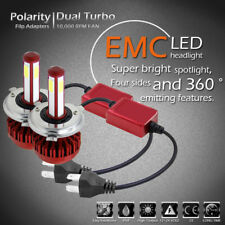 4 Sides LED Headlight Kit 9003 H4 HB2 160W 6000K 16000LM Bulbs HID High/Low Beam