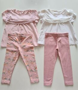 Girls Outfits x 2 Tops and Leggings 18-24 Months