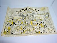 Vintage Las Vegas Golden Nugget Casino Placemat