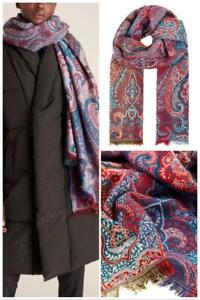 Monsoon-Paisley Jacquard Blanket Scarf-Blue(Multi) -(Brand New With Tag)One Size