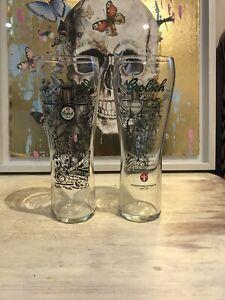 grolsch pint glass X2