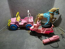 Vintage Barbie Vehicle Lot Jeep Scooter and Horse Untested
