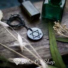 Shungite necklace Pendant star of David engraved   Emf protection
