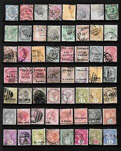 CEYLON - QV 56 stamps. Used.