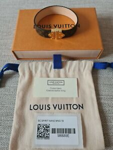 Louis Vuitton Spirit Nano Bracelet - Size 19 - Brand New - 100% Authentic